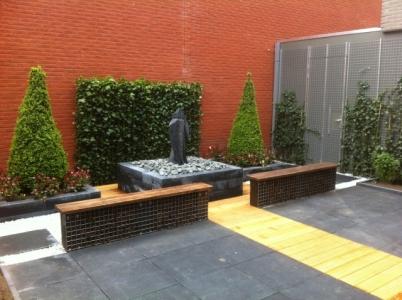 Kleine moderne binnentuin groningen - Moderne buitentuin ...